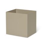 Ferm Living Boite Plante Pot Cachemire métal beige 19,4x24x22,5cm