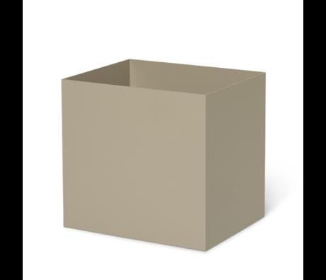 Ferm Living Plant Box Pot Cashmere beige metaal 19,4x24x22,5cm
