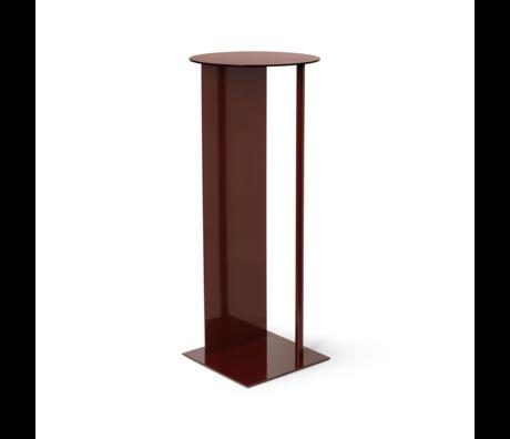 Ferm Living Pillar Place red brown metal Ø31x75cm