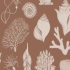 Ferm Living Behang Katie Scott Shells toffee bruin non woven vliesbehang 53x1000cm