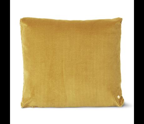 Ferm Living Cushion Corduroy mustard yellow cotton 45x45cm