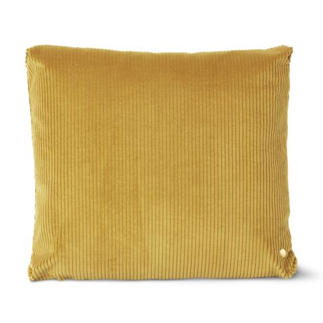 Ferm Living Sierkussen Corduroy mosterd geel katoen 45x45cm