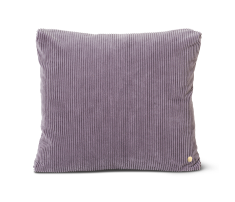 Ferm Living Coussin Velours côtelé Lavande coton violet 45x45cm
