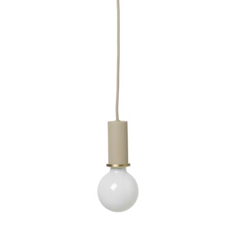 Ferm Living Socket Pendant Low cashmere beige metaal Ø6x10,2cm