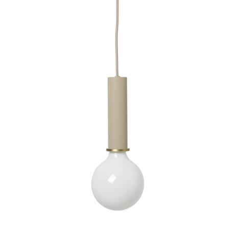 Ferm Living Socket Pendant High cashmere beige metal Ø6x17cm