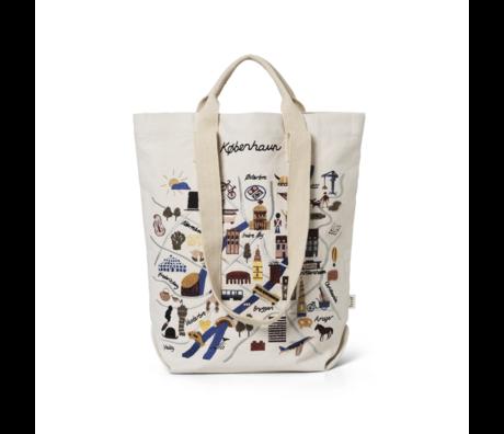 Ferm Living Shopper Copenhagen multicolour katoen canvas 44x0,5x45cm