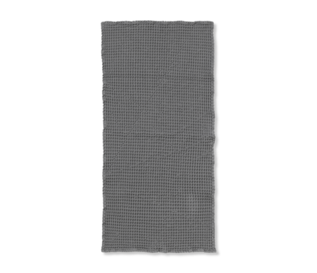 Ferm Living Guest towel Organic gray cotton 50x100cm