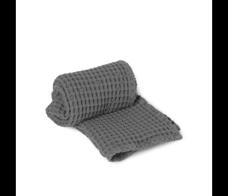 Ferm Living Guest towel Organic gray cotton 50x100cm