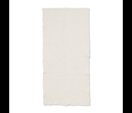 Ferm Living Handdoek Organic Off-White katoen 70x140cm