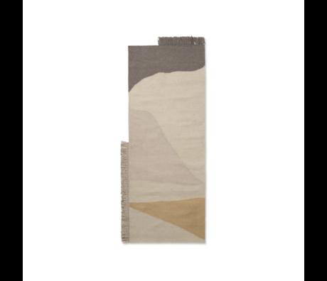 Ferm Living Teppich Kelim Earth mehrfarbige Wolle Baumwolle 80x140cm