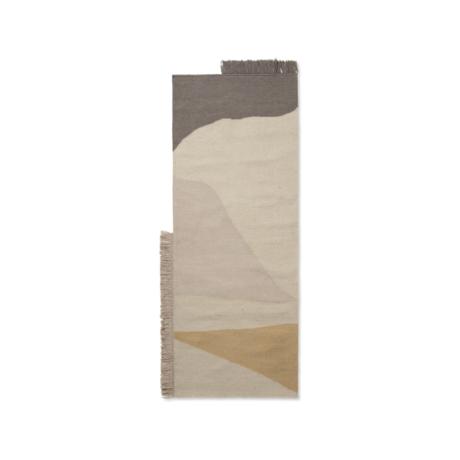Ferm Living Tapis Kilim Earth laine multicolore coton 80x140cm