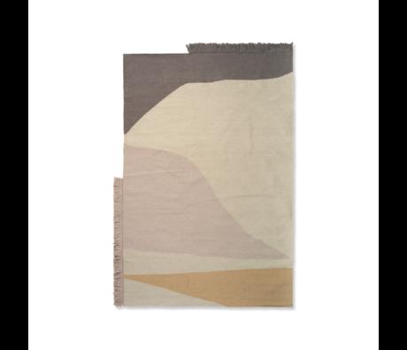 Ferm Living Vloerkleed Kelim Earth multicolour wol katoen 140x200cm