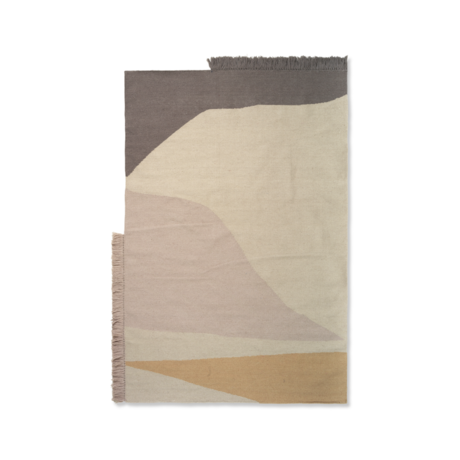 Ferm Living Teppich Kelim Earth mehrfarbige Wolle Baumwolle 140x200cm