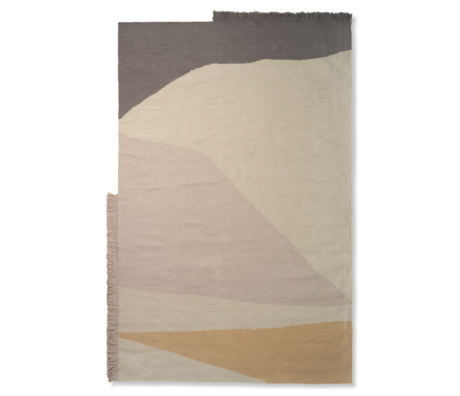 Ferm Living Tapis Kilim Earth multicolore en laine coton 160x250cm