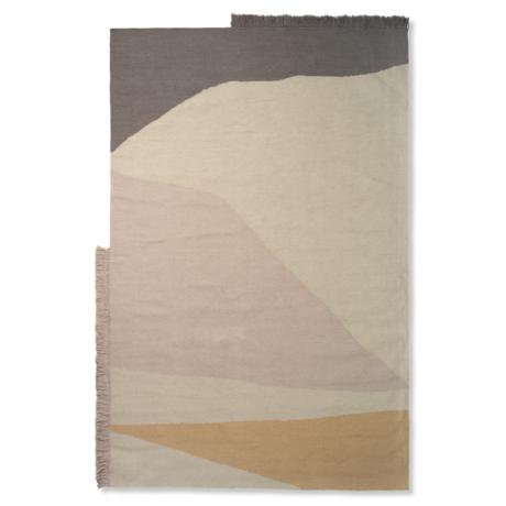 Ferm Living Vloerkleed Kelim Earth multicolour wol katoen 160x250cm