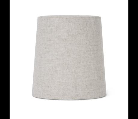 Ferm Living Abat-jour Hebe Medium Textile marron naturelØ27.5x27.5x28.5cm / Ø23x48cm