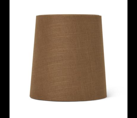 Ferm Living Lampenkap Hebe Medium Curry bruin textiel Ø27,5x27,5x28,5cm/Ø23x48cm