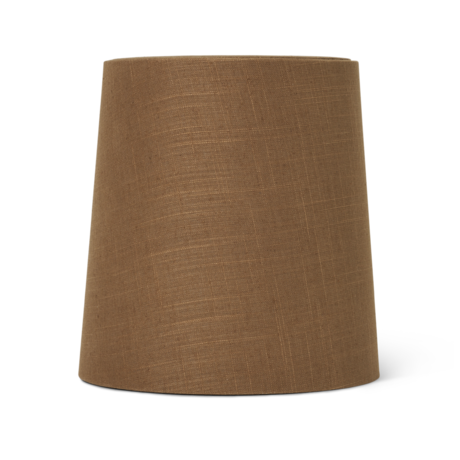 Ferm Living Abat-jour Hebe Medium textile brun curry Ø27.5x27.5x28.5cm / Ø23x48cm
