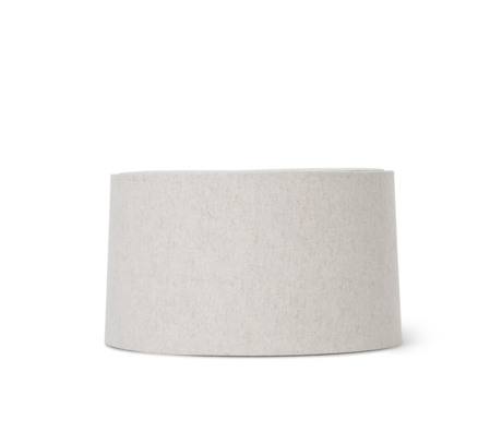 Ferm Living Abat-jour Hebe Short textile marron naturel 33x18.5cm