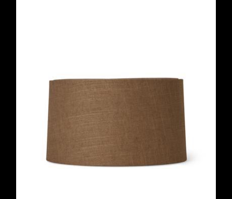 Ferm Living Lampenkap Hebe Short Curry bruin textiel Ø33x18,5cm