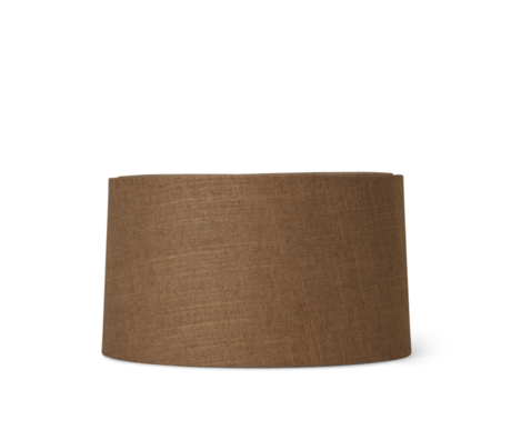 Ferm Living Lampshade Hebe Short Curry brown textile Ø33x18.5cm