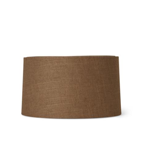 Ferm Living Abat-jour Hebe Court Curry textile marron Ø33x18.5cm