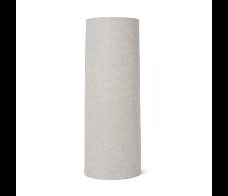 Ferm Living Abat-jour Hebe Long textile marron naturel 30x80cm