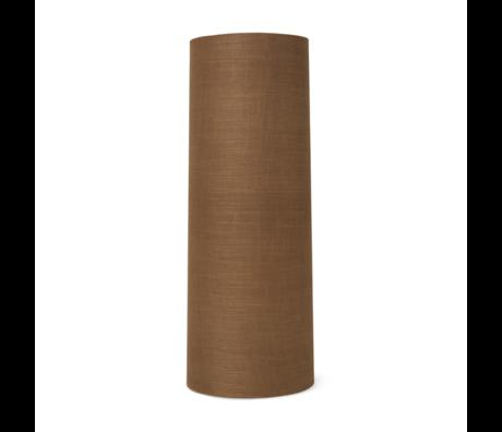 Ferm Living Lampenkap Eclipse Long Curry bruin textiel Ø30x80cm