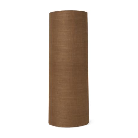 Ferm Living Abat-jour Hebe Long Curry textile brun Ø30x80cm
