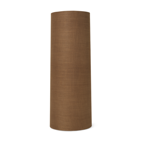 Ferm Living Lampshade Hebe Long Curry brown textile Ø30x80cm