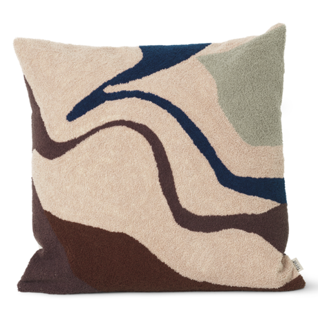 Ferm Living Cushion Vista Beige brown cotton 50x50cm