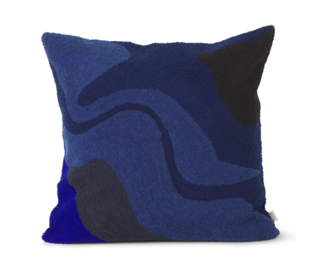 Ferm Living Cushion Vista dark blue cotton 50x50cm
