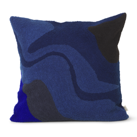 Ferm Living Sierkussen Vista donker blauw katoen 50x50cm