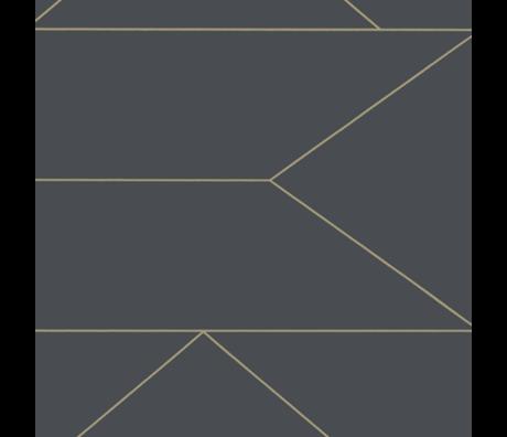 Ferm Living Papier peint intissé intissé gris graphite Lines 0.53x10.05m