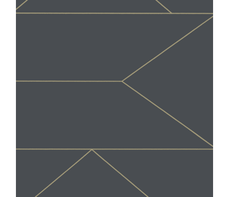 Ferm Living Tapeten Linien Graphitgrau Vlies Vliestapete 0,53 x 10,05