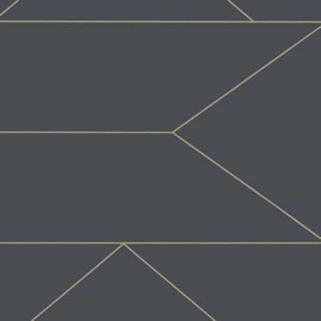 Ferm Living Behang Lines Graphite grijs non woven vliesbehang 0,53x10,05m