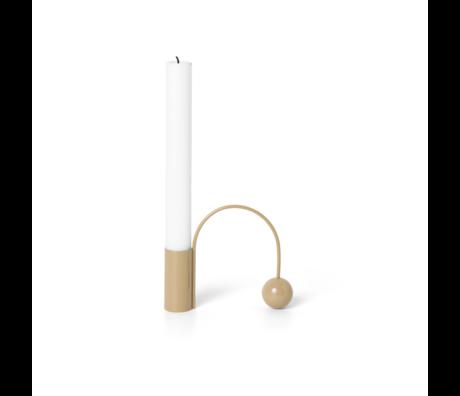 Ferm Living Balance Macaroon candlestick chrome 11x2.5x9.5cm