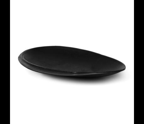 Ferm Living Tablett Wald groß schwarz Messing Metall 24x17.7x2.8 cm