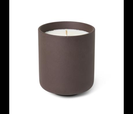 Ferm Living Bougie parfumée Sekki Anthracite en terre cuite L Ø7,7x9,2cm