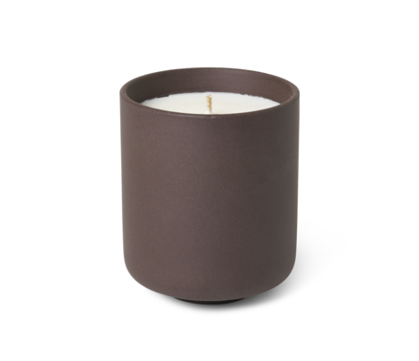 Ferm Living Scented candle Sekki Charcoal gray earthenware L Ø7,7x9,2cm