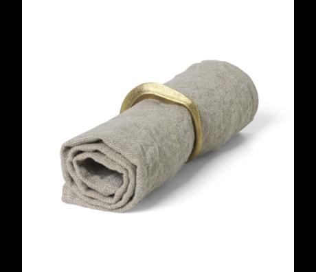Ferm Living Servetten Linen beige linnen set van 2 40x40cm