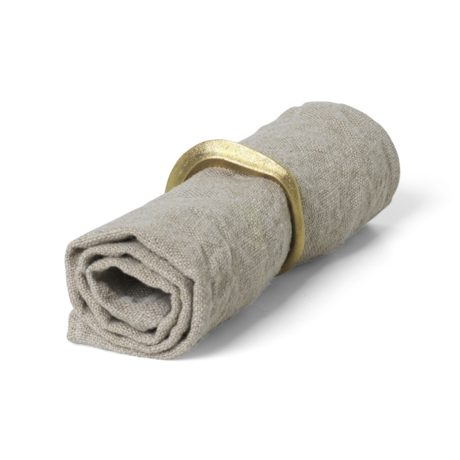 Ferm Living Napkins Linen beige linen set of 2 40x40cm