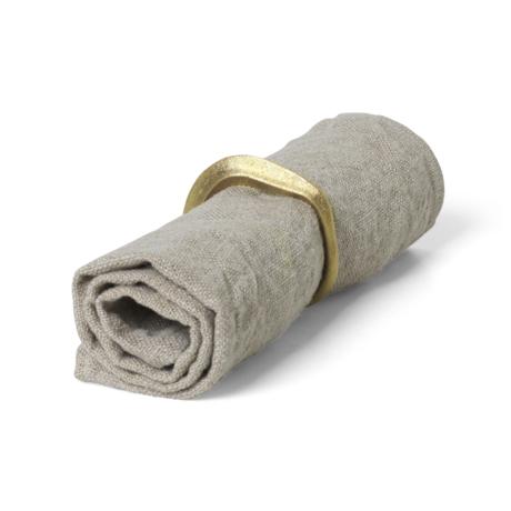Ferm Living Serviettes en lin lin en lin set de 2 40x40cm