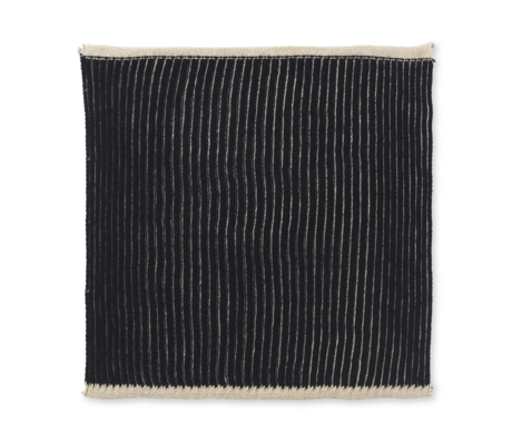 Ferm Living Dishcloth Twofold sand brown cotton set of 2 26x26cm