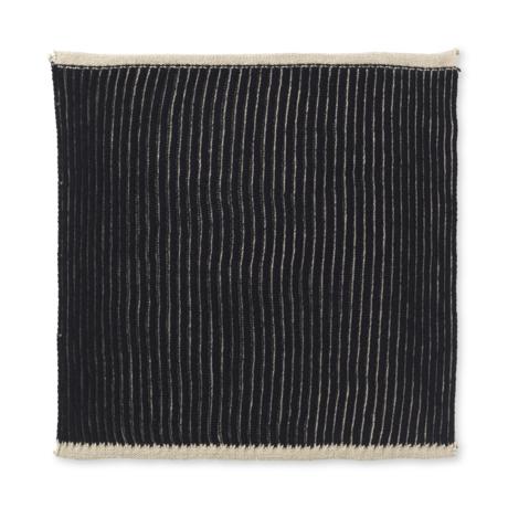 Ferm Living Torchon en coton deux fois marron sable, lot de 2 26x26cm