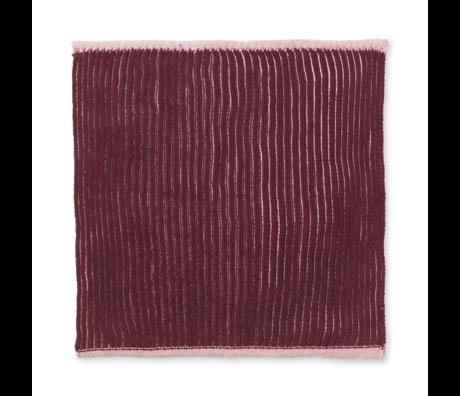 Ferm Living Geschirrtuch Zweifach staubrosa Baumwolle 2er Set 26x26cm