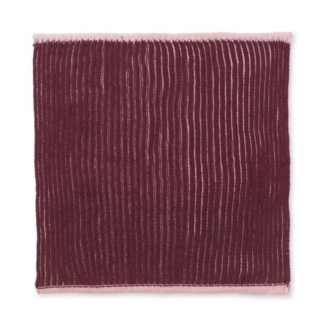 Ferm Living Torchon double coton rose poussiéreux set de 2 26x26cm
