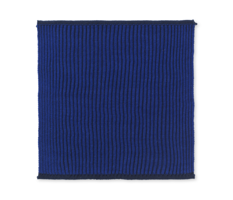 Ferm Living Dishcloth Twofold dark blue cotton set of 2 26x26cm