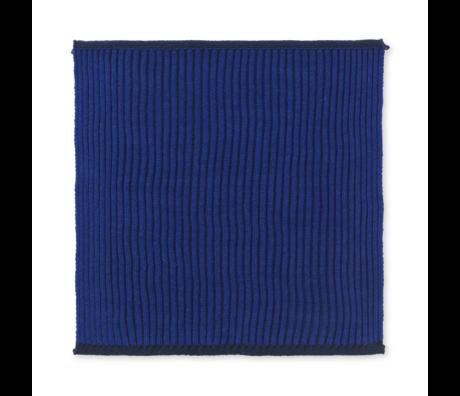 Ferm Living Vaatdoekje Twofold donker blauw katoen set van 2 26x26cm