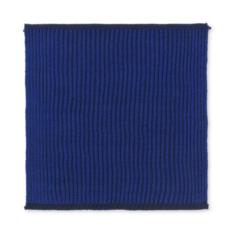 Ferm Living Torchon double en coton bleu foncé lot de 2 26x26cm